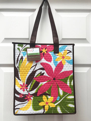 Kona Bay Bag - Hot & Cold Bag - Tropical Flowers