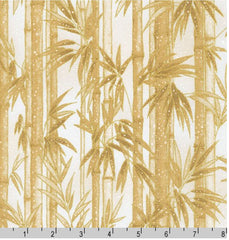*Asian - Imperial 16 - Bamboo Forest-Gold - SRKM-19509-15 IVORY