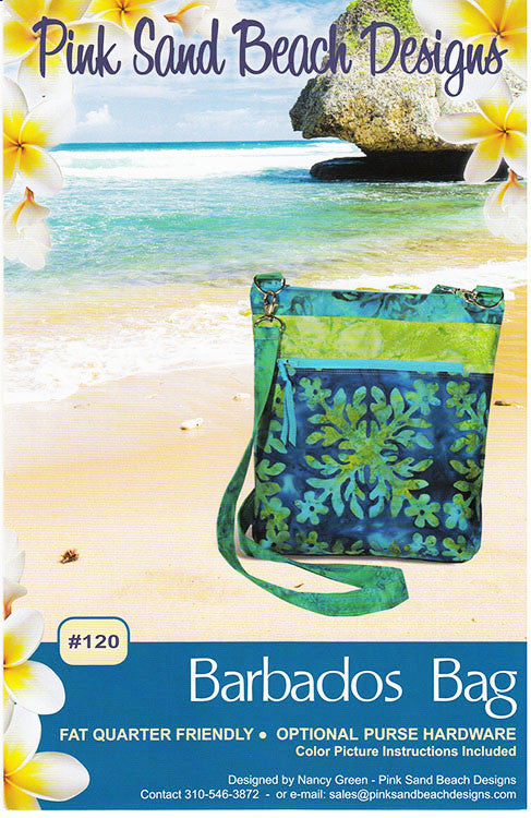 Bag Pattern - Pink Sand Beach Designs - Barbados Bag