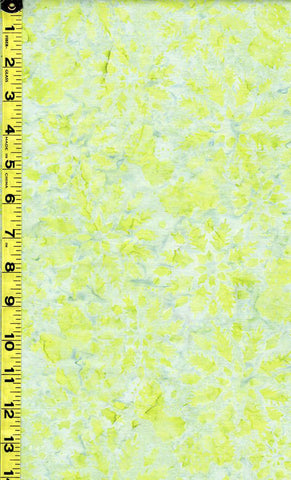 *Batik - Tonga - Leafy Circles - B4932-Pear (Bright Lime Green)