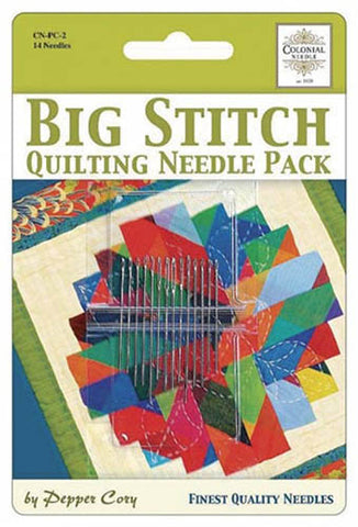 Notions - Big Stitch Quilting Needle Pack - 14 Needles