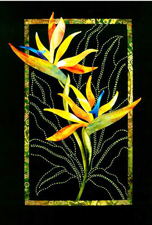 Sashiko Pattern -  Exotic Flowers - Bird of Paradise