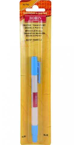 Notions - Bohin Double Point Marking Pen # 91793 - Blue
