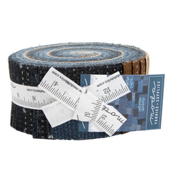 "Pre-Cut Strips - BORO Collection Jelly Roll - 2 1/2"" Strip Roll-Up - 40 Strips"
