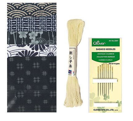 **Japanese Traditional - Japanese Cotton Boro Patch Kit