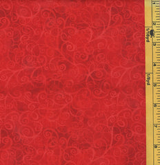 Blender Fabric - Breeze Tonal Swirling Scroll - C4843 - Red