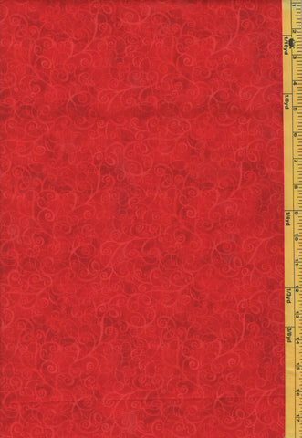 Blender Fabric - Breeze Tonal Swirling Scroll - C4843 - Red - Last 2 Yards