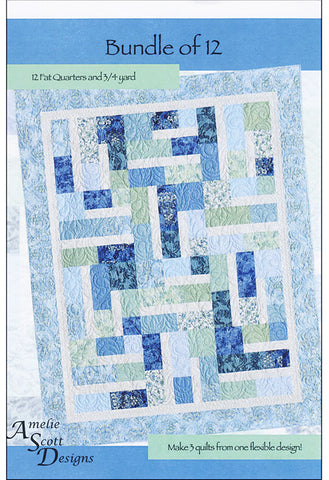 Quilt Pattern - Amelia Scott Designs - Bundle of 12