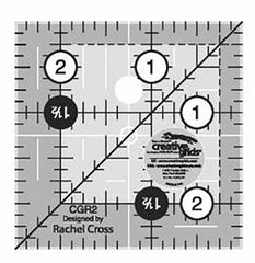 "Rulers & Templates - Creative Grids - CGR2- 2 1/2"" Square Template"