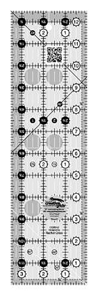 "Rulers & Templates - Creative Grids - CGR312 - 3 1/2"" x 12 1/2"""