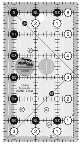 Rulers & Templates - Creative Grids - CGR36 - 3 1/2