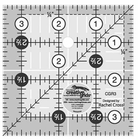 Rulers & Templates - Creative Grids - CGR3 - 3 1/2