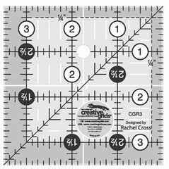 "Rulers & Templates - Creative Grids - CGR3 - 3 1/2"" Square"