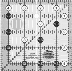 "Rulers & Templates - Creative Grids - CGR4 - 4 1/2"" Square"