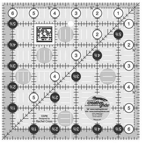 Rulers & Templates - Creative Grids - CGR6 - 6 1/2