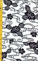 Yukata Fabric - 023 - Camellias & Floral Streams