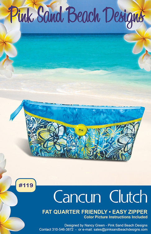 Bag Pattern - Pink Sand Beach Designs - Cancun Clutch