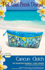 Bag Pattern - Pink Sand Beach Designs - Cancun Clutch - ON SALE