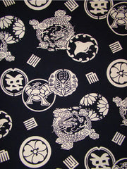 Japanese - Canvas Weight - Dragons & Crests - Blue-Black