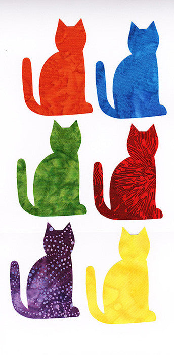 Fabric Fun Shapes - Batik Cats