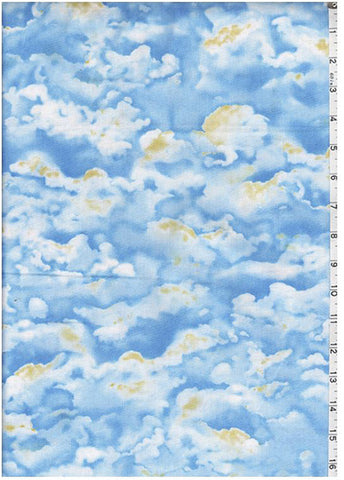 Novelty - Cloudy Skies - Blue