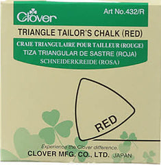 Notions - Clover Triangle Tailor's Chalk - Red