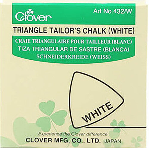 Notions - Clover Triangle Tailor's Chalk - White