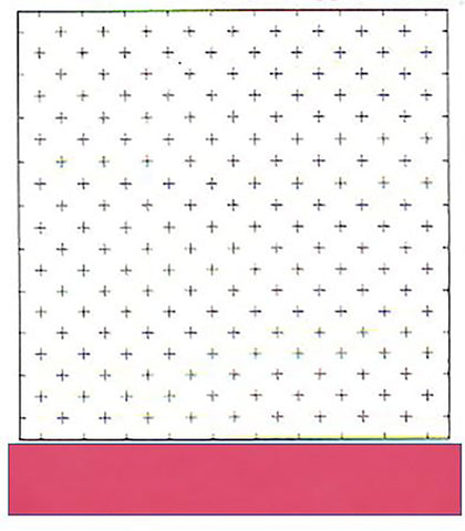 Sashiko Pre-printed Sampler - Hidamari Cosmo - Kasuri Crosses - 98906-22 - Rose (Bright Pink) - ON SALE - 50% OFF