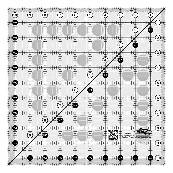 "Rulers & Templates - Creative Grids - CGR10 - 10 1/2"" Square"