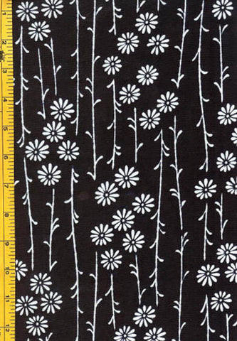 Yukata Fabric - 064 - Daisies with Long Stems