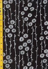 Yukata Fabric - 058 - Daisies with Long Stems