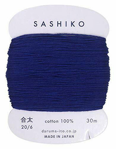 Sashiko Thread - Daruma - Medium/ Regular Weight - 30m - # 215 Navy