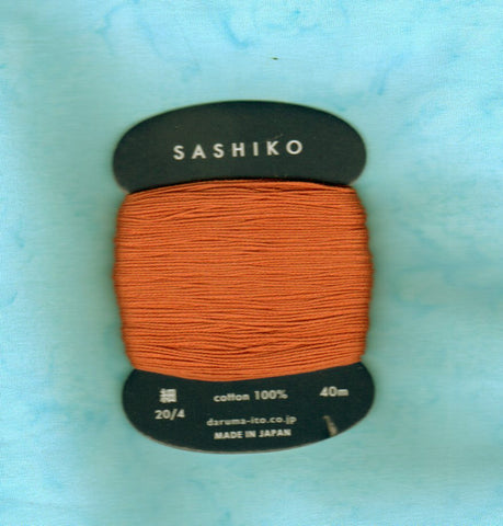 Sashiko Thread - Daruma - Thin Weight - 40m - # 214 Copper