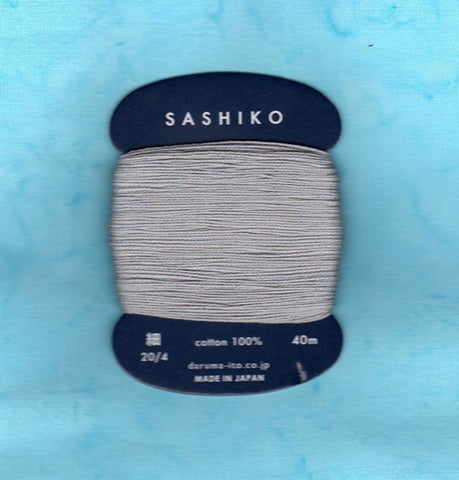 Sashiko Thread - Daruma - Thin Weight - 40m - # 217 Grey