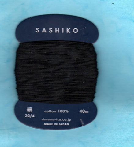 Sashiko Thread - Daruma - Thin Weight - 40m - # 219 Black