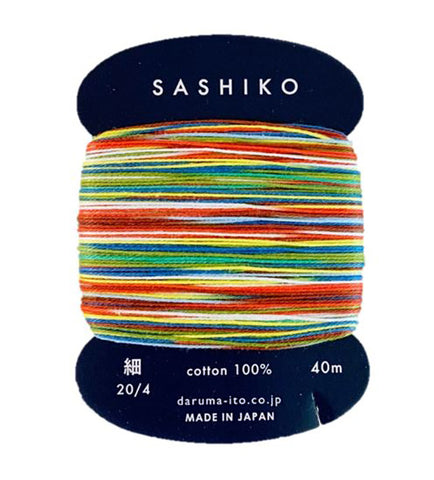 *New - Sashiko Thread - Daruma - Thin Weight Variegated - 40m - # 501 Paper Balloon