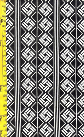 Yukata Fabric - 066 -Diamond Bar Columns
