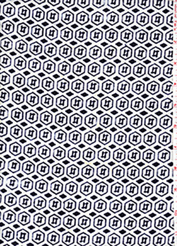 Yukata Fabric - 065 - Hexagons & Diamonds-White