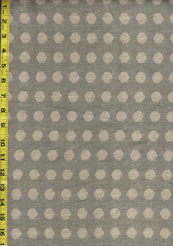 Japanese Yarn Dyed - DY83043-A - Textured Dots - Grey