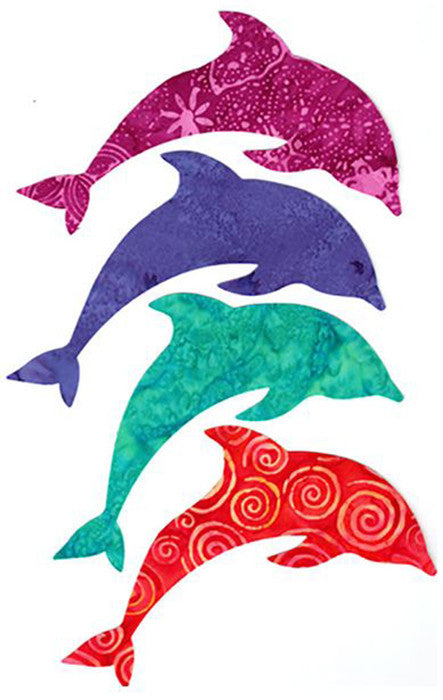 Fabric Fun Shapes - Sea Life - Dolphins