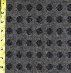 Japanese Woven Cotton - DY83043-B - Textured Dots - Charcoal