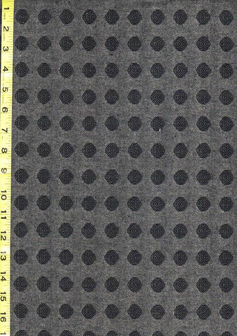 Japanese Yarn Dyed - DY83043-B - Textured Dots - Charcoal