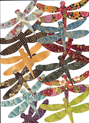 "Fabric Fun Shapes - Dragonflies - 5"" Asian"