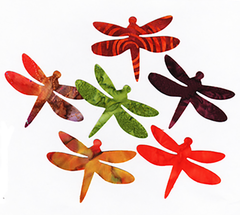 "Fabric Fun Shapes - Dragonflies - 3"" Autumn Batiks"