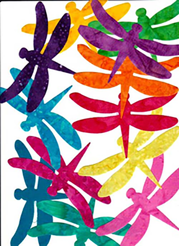 Fabric Fun Shapes - Dragonflies - 6 - 5