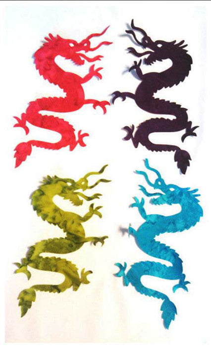 Fabric Fun Shapes - Dragons - Small - Batik