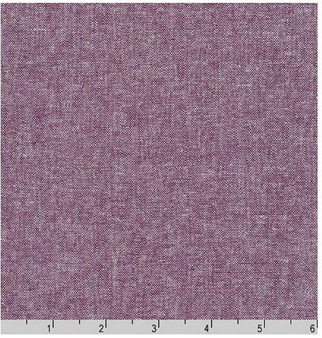 Solid - Essex Cotton-Linen Yarn-Dyed - Eggplant (Soft Purple)  # 1133