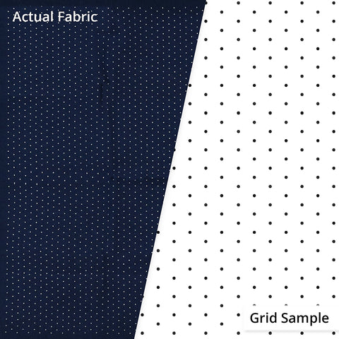 Sashiko Design Cloth - Pre-printed DIAGONAL Grid for Hitome-zashi Sashiko (Olympus) - 100% Cotton - NAVY - # 2056