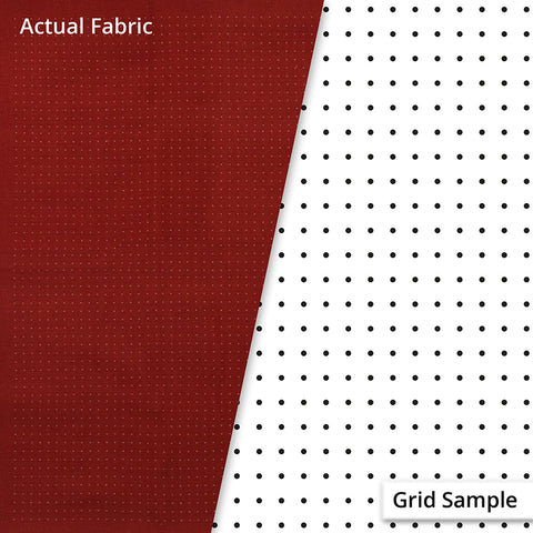 Sashiko Design Cloth - Pre-printed Grid for Hitome-zashi Sashiko (Olympus) - 100% Cotton - BRICK RED - # 4521