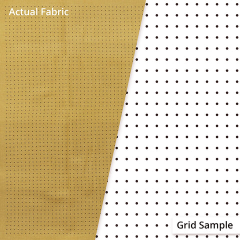 Sashiko Design Cloth - Pre-printed Grid for Hitome-zashi Sashiko (Olympus) - 100% Cotton - MUSTARD - # 5021